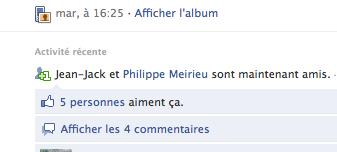 Queyranne et Meirieu, l'union consommée... sur facebook !