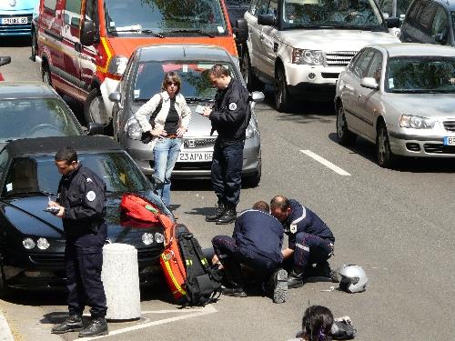 Accident lundi à Savigny près de Tarare