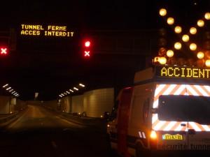 Circulation difficile sous le tunnel de Fourvière vendredi après-midi