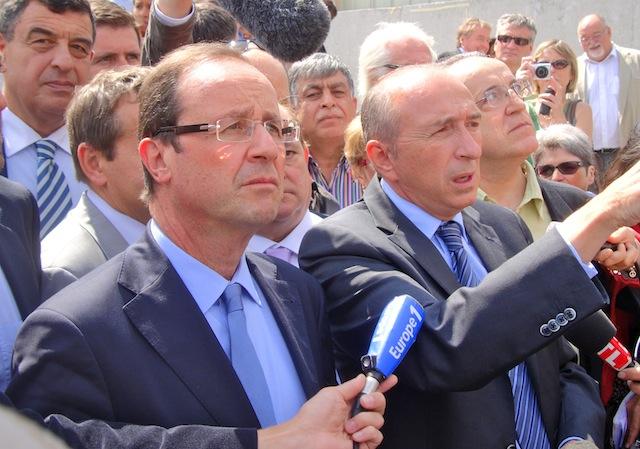 François Hollande et Gérard Collomb jeudi matin à Lyon © Lyon Mag
