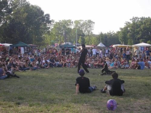 Début vendredi soir du festival  Woodstower