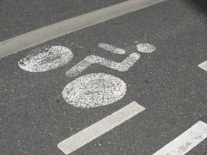Des cyclistes à double sens dans les rues de Lyon