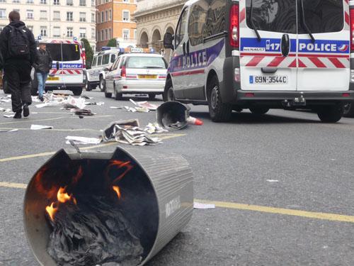 Des scènes de guérillas urbaines à Lyon