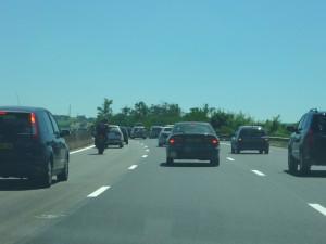 La RD 14 qui relie Tarare à Violay dans la Loire fermée à la circulation