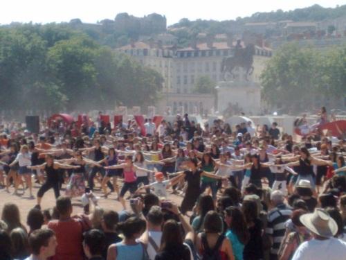 Flash mob à Bellecour