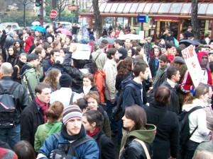 La pluie n'a pas dissuadé les manifestants lyonnais