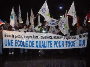 Les profs manifestent à Lyon