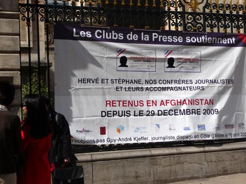 Lyon n'oublie pas les journalistes otages
