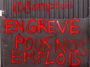 Manifestation aujourd'hui à Rillieux-la-Pape des salariés de Lejaby