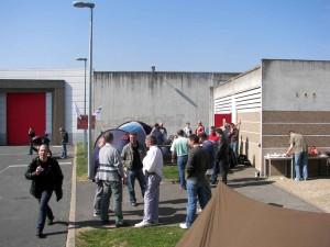 Mobilisation devant la prison de Villefranche-sur-Saône