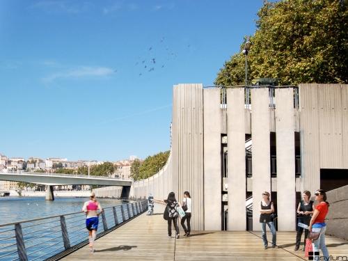 Ouverture d'une exposition sur le projet d'aménagement des Rives de Saône