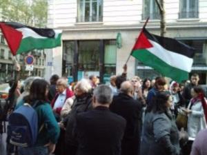 Un rassemblement à Lyon après l'abordage meurtrier de la marine israélienne près de Gaza