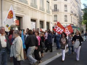 Une manifestation des salariés de la CPAM vendredi