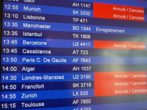 Vols annulés à Saint-Exupéry