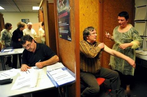 5 centres de vaccination contre la grippe A ouverts jeudi matin dans le Rhône