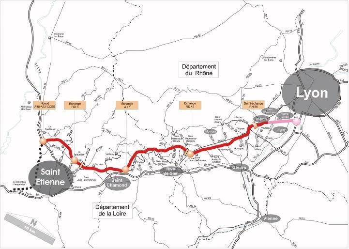 Le gouvernement annonce le début des travaux de l'A45 pour 2018