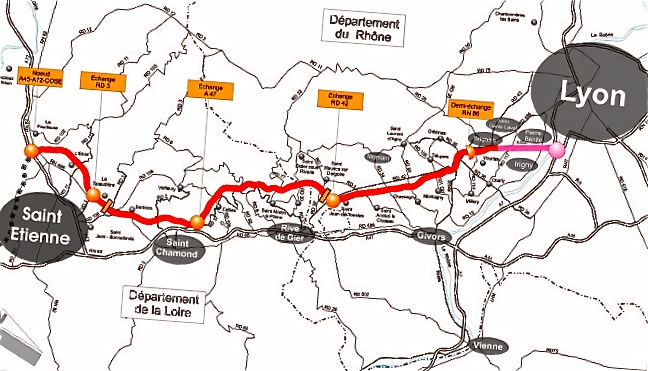 L'appel à concession pour l'A45 entre Lyon et Saint-Etienne officiellement lancé