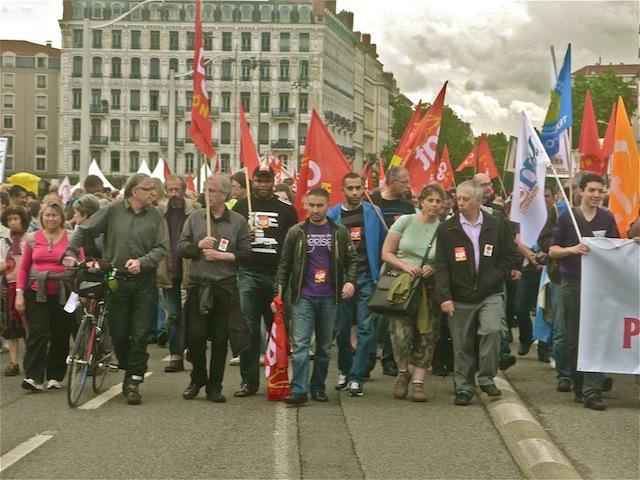 30 000 manifestants mobilisés à Lyon selon les syndicats
