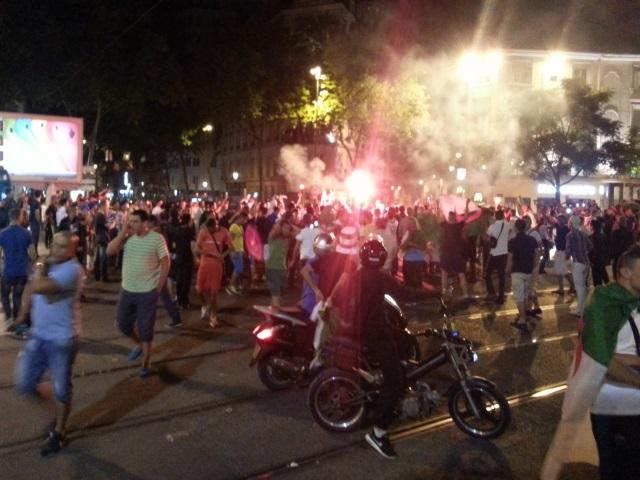 Les supporters algériens étaient d'abord rassemblés à la Guillotière - LyonMag