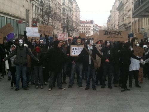 Les Anonymous de retour dans Lyon