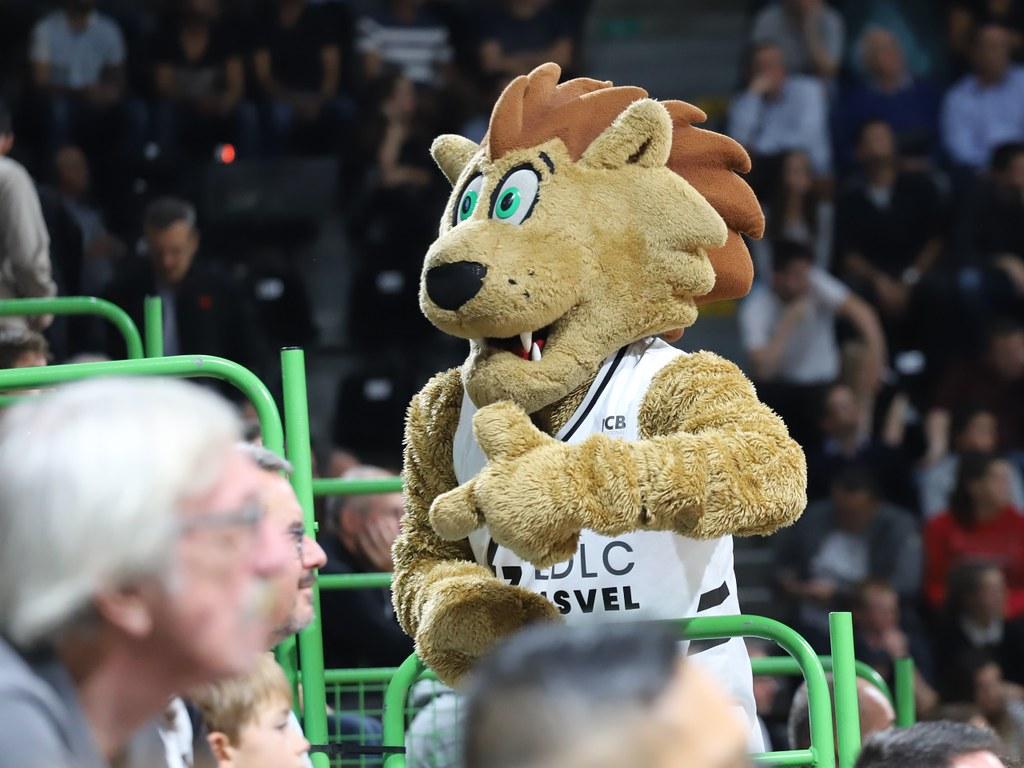La mascotte de l'ASVEL- LyonMag