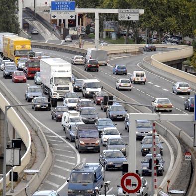 25 km de bouchons lundi à Lyon
