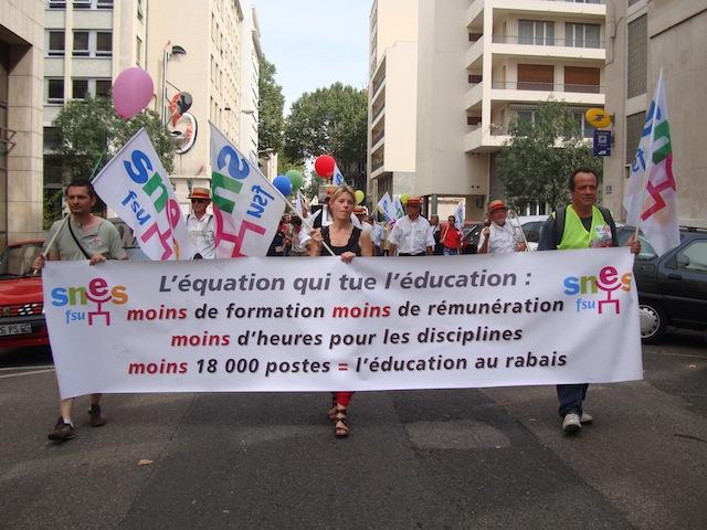La manifestation des professeurs a mobilisé lundi
