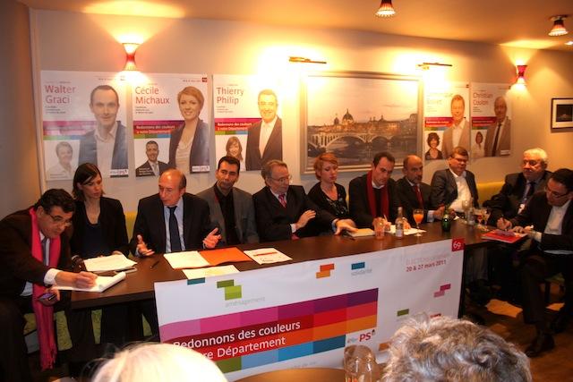 Cantonales 2011 : Collomb adoube les candidats lyonnais