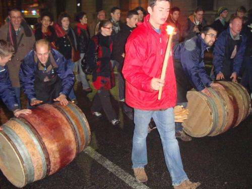 Les Lyonnais nombreux à fêter le Beaujolais nouveau