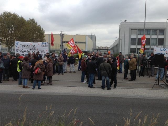 Manifestation : les salariés de Bosch Vénissieux en grève ce lundi