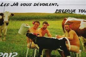 Le calendrier 2012 des jeunes agriculteurs du Rhône - DR leprogrès.fr