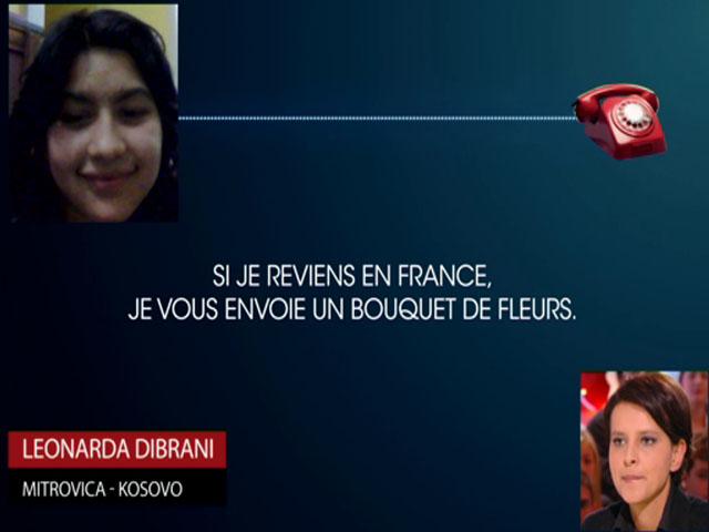 Najat Vallaud-Belkacem interpellée par Leonarda sur Canal Plus - VIDEO