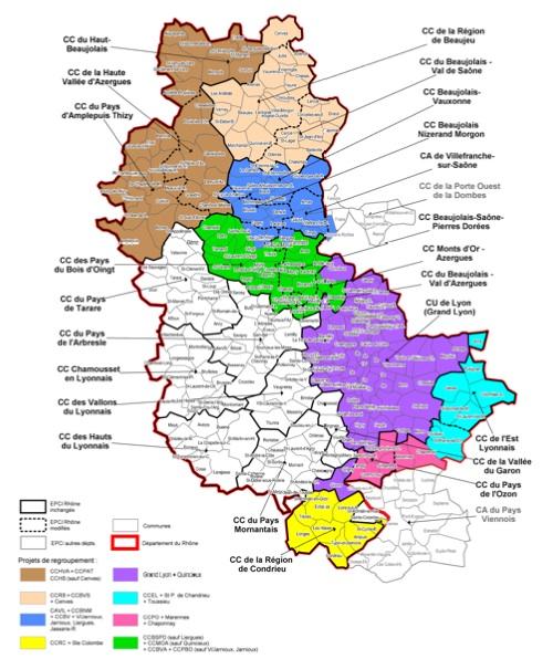 Le Rhône optimise ses regroupements de communes