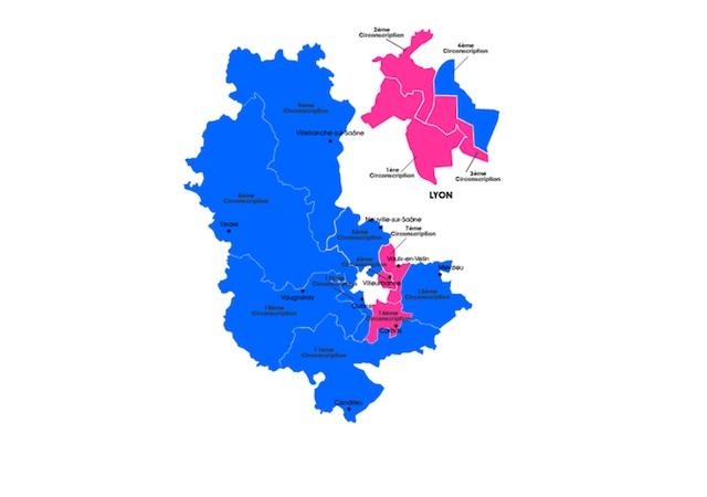 Législatives : les résultats complets du Rhône (carte interactive)
