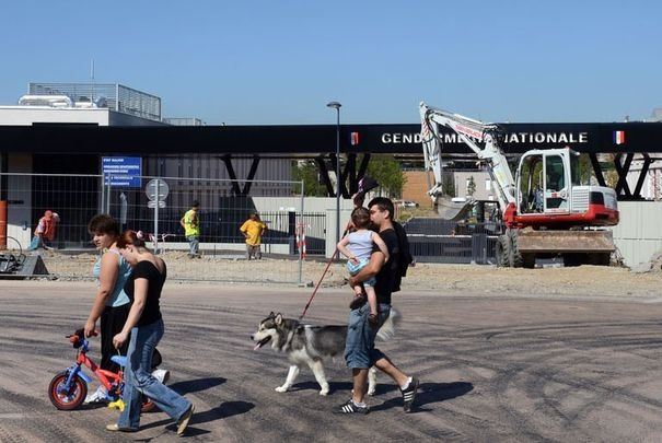 Le chantier de la caserne de gendarmerie de Sathonay-Camp - Photo AFP/DR