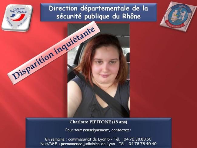 Appel à témoins pour retrouver Charlotte, disparue depuis mardi
