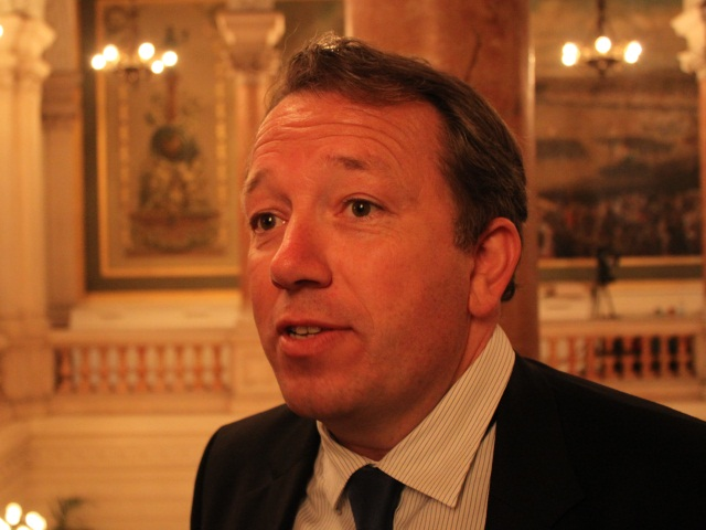 """Municipales à Lyon : Christophe Boudot """"en repérage"""" à l'Hôtel de Ville"""