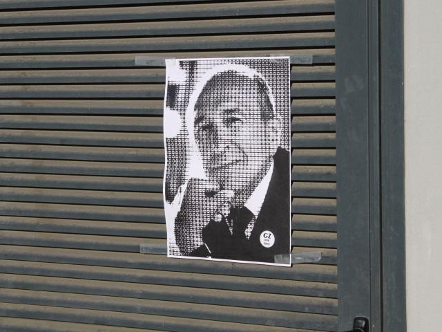 Les portraits de Collomb fleurissent à Lyon : la réplique de Grrrnd Zero
