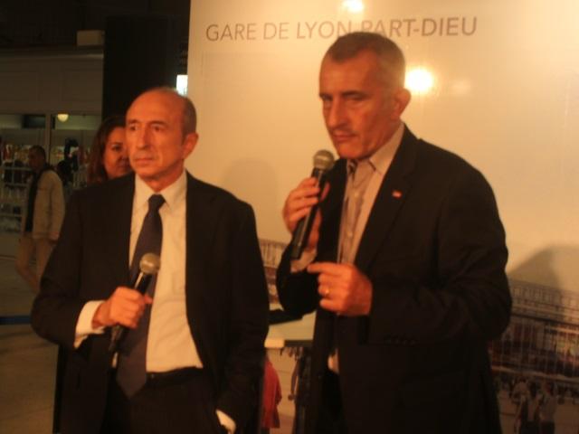 Guillaume Pépy et Gérard Collomb - photo Lyonmag.com