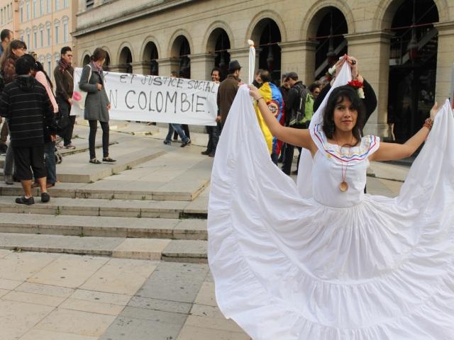 Une cinquantaine de personnes réunies à Lyon pour la Colombie