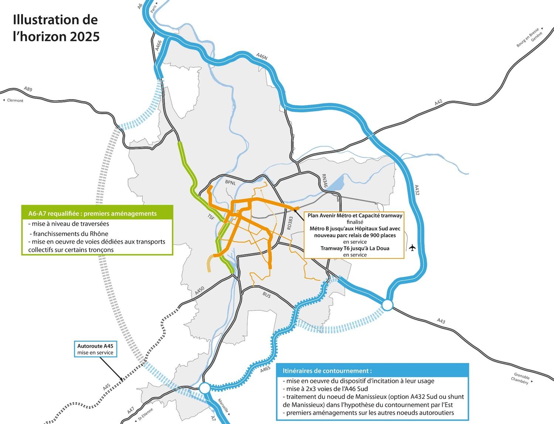 Le contournement de Lyon, d'ici 2025 - DR