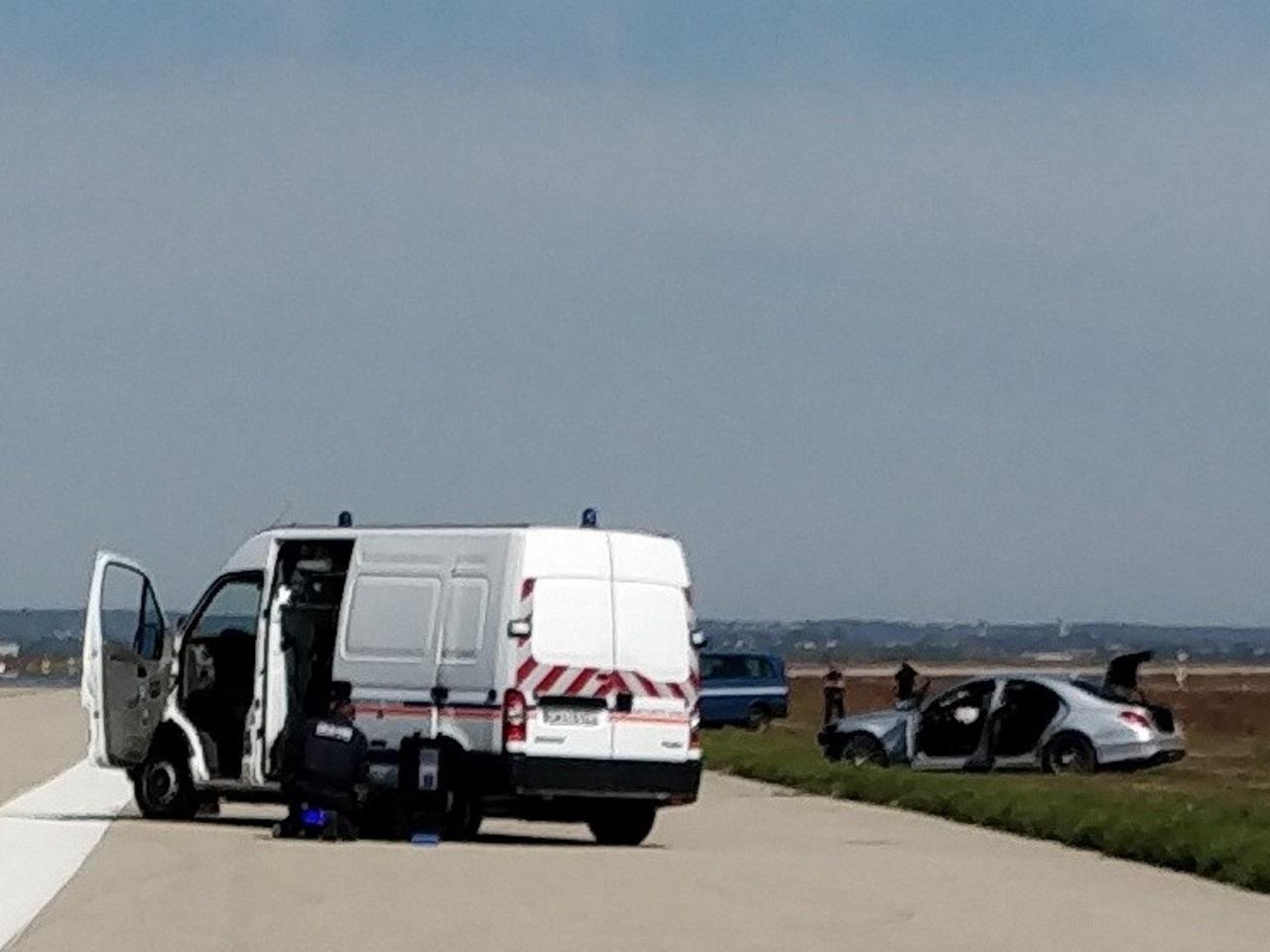 Le véhicule a été stoppé après avoir eu un accident - Exclusif LyonMag