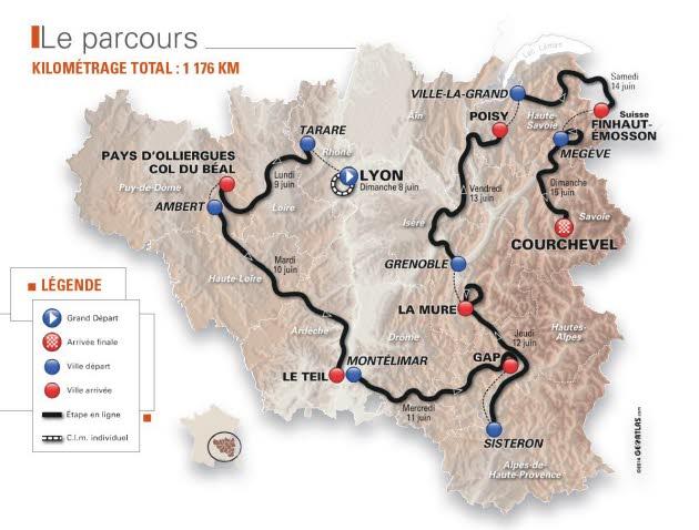 Passage du Critérium du Dauphiné à Lyon : de grosses perturbations prévues ce week-end