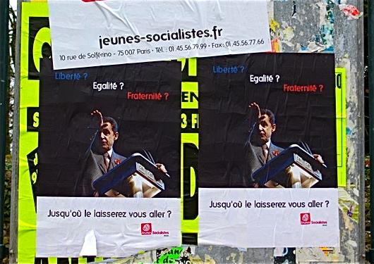 Le MJS de la Vienne édite et placarde une affiche polémique de Sarkozy