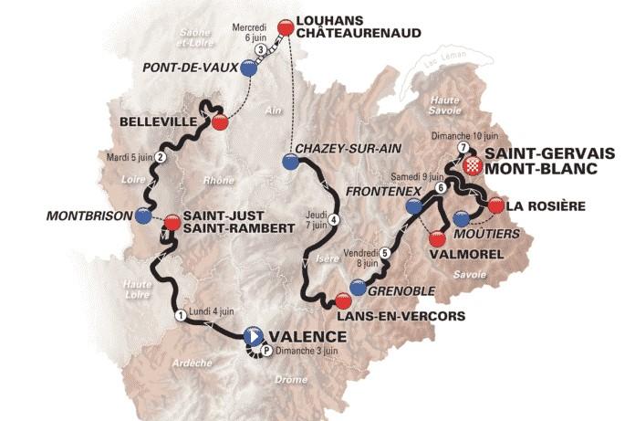 Le Critérium du Dauphiné 2018 fera étape dans le Rhône
