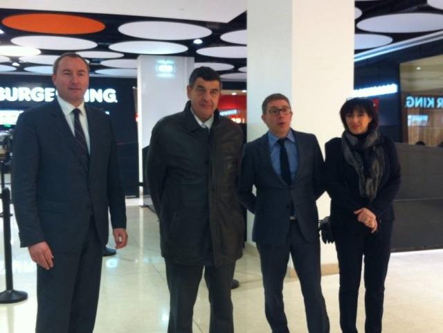 Le directeur du centre commercial et le maire du 3e arrondissement étaient notamment présents - LyonMag.com
