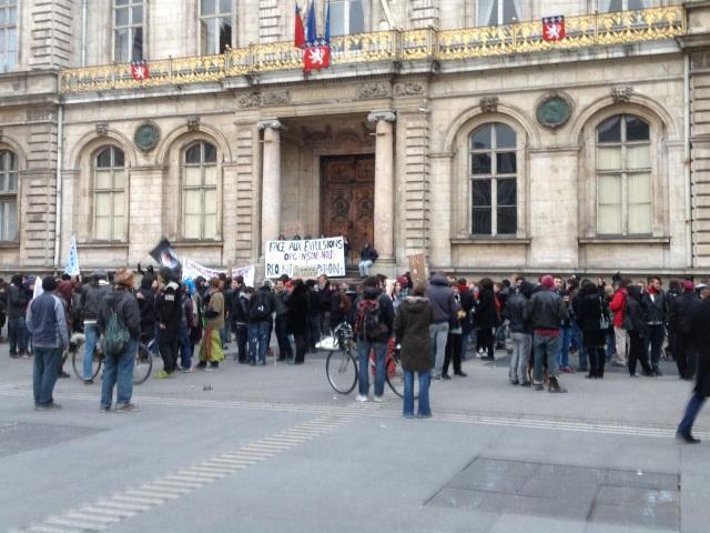 Les manifestants samedi après-midi - LyonMag