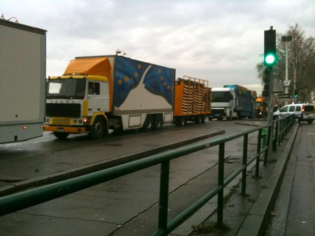 Opérations escargots des forains ce mardi matin au sud de Lyon
