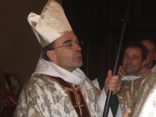 Monseigneur Barbarin a béni les pèlerins de Saint-Jacques-de-Compostelle dimanche