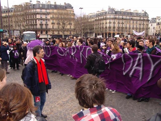 """Un mouvement """" No Sarkozy Day"""" à Lyon"""